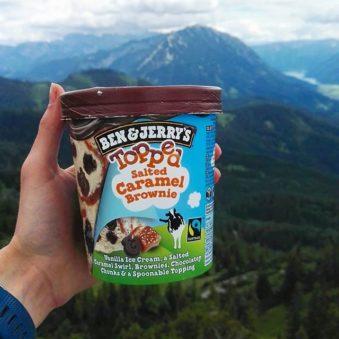 Ben & Jerrys Eis und Berge